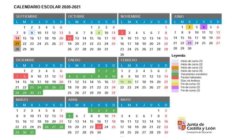 Curso 2020/2021: calendario escolar definitivo con las fechas de